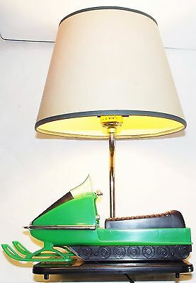 "SkiDoo TNT Vintage Snowmobile GRIFFIN USA TABLE LAMP ""Good"""