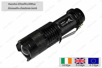 New 300Lm 5W Cree Q5 LED Zoomable Aluminum Portable Torch Flashlight Light