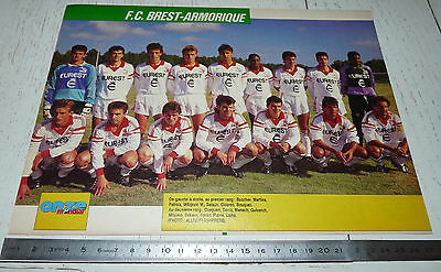 Clipping Poster Football 1990-1991 Brest Armorique Francis-Le Ble