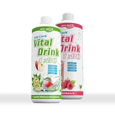 2 x Best Body Nutrition Low Carb Vitaldrink L-Carnitin Vitamine Trink Sirup TOP