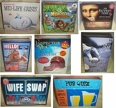 Assorted New Boxed & Sealed Family, Childrens & Adult Games To Choose From