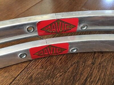 Vintage Mavic Road Rims NOS 36h Pair Tubular