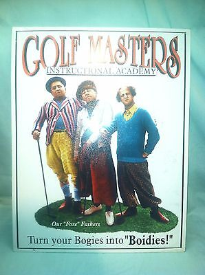 Three Stooges Golf Masters Instructional Academy Metal Sign