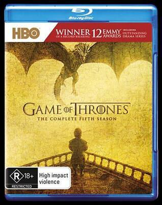 Game Of Thrones: Season 5 - Blu Ray Region B Free Shipping!