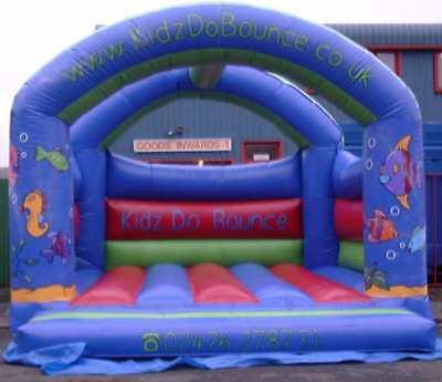 Aquarium Arched  Bouncy Castle 11.5 FT X 11.5 FT Made To Order