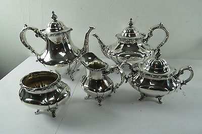 Reed and Barton Sterling silver tea set Georgian Rose Pattern