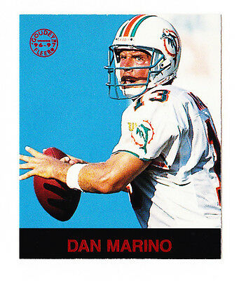 Dan Marino 1997 Fleer Goudey #41 Mini Red Gridiron Greats Blue Background NrMt