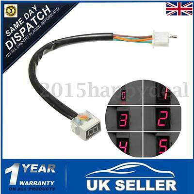 Universal LED Digital Gear Indicator Motorcycle Display Shift 6 Lever Sensor Red