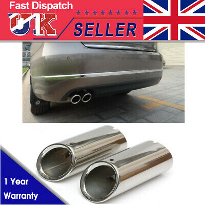 Chrome Stainless Steel Exhaust Muffler Tip Trim Tail Pipe For Vw Scirocco Mk3