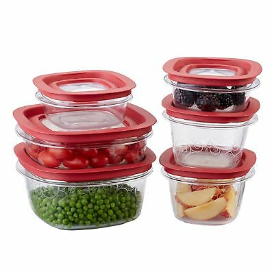 Rubbermaid 12-Piece New Premier Food Storage Container Set 1 Rubbermaid