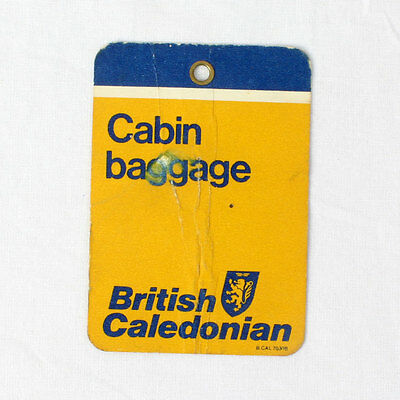 British Caledonian Airways - Airline Baggage Tag - 1980s - Good Condition