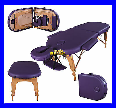 "Purple Orvis Portable Massage Table Couch Beauty Therapy Bed Reiki 3"" Spa"