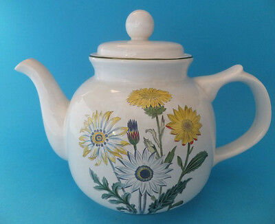 Royal Victoria Wade Teapot With Sunflowers Flowers Ceramic Pottery Rare