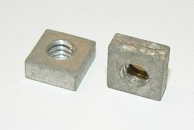 "1/4""-20 Aluminum Square Nuts - Lot of 100 Pcs."