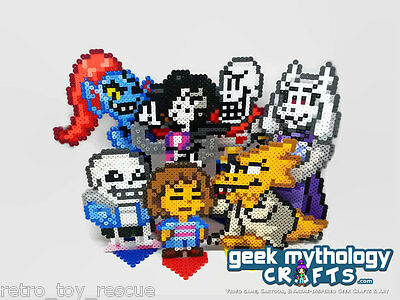 Undertale Custom Mini Pixel Art Perler Bead Sprite Figures - HANDMADE