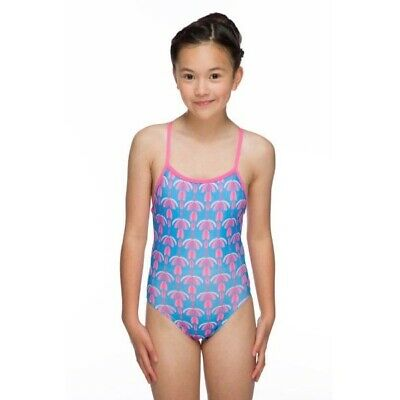 Girls Flutter Pacer Aero Back Swim Suit - Turquoise