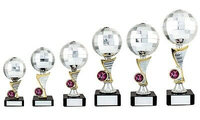 Music Trophies Disco Ball Glitter Ball Music Dance Award 6 sizes FREE Engraving
