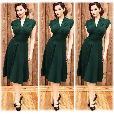 Ladies Women's 50's Rockabilly Vintage Evening Party Tea Dresses Swing Skater