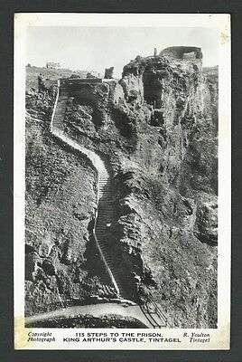 Vintage Postcard - 115 Steps to the Prison King Arthurs Castle - Free Postage