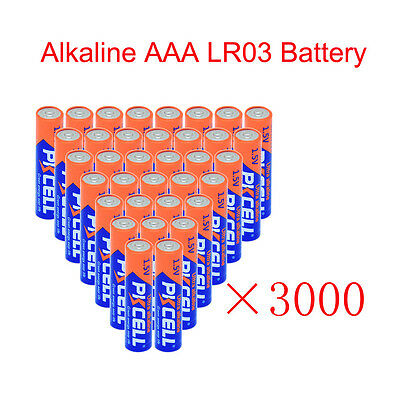 3000× Alkaline AAA Batteries 1.5V LR03 Single Use Remote Battery Wholesale