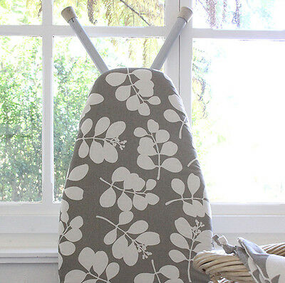 NEW Organic cotton ironing board cover in succulent feather grey by Dandi Studio