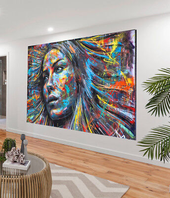 Art Painting A0 Canvas  STREET GRAFFITI Print urban Australia contemporary face