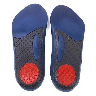 3/4 Orthotic Shoe Insoles Arch Support Flat Feet Pronation Heel Pain Relief New