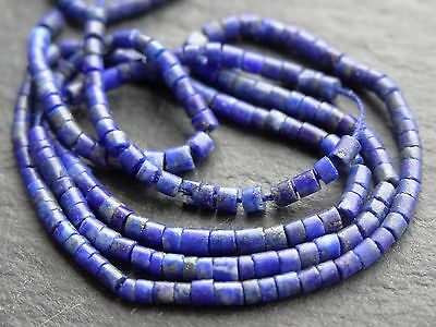 "TINY LAPIS LAZULI TUBES, approx 2mm diameter, 13.5"", 190+ beads"