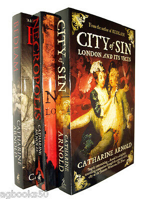 London Trilogy Books Catherine Arnold 3 Book Set Bedlam City of Sin Vices New