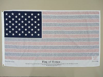 9/11 Flag of Honor Memorial Indoor Outdoor Poly/Cotton Flag Grommet 3' X 5'