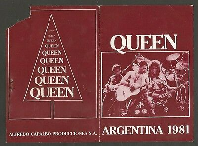 Ticket Queen Freddy Mercury Argentina 1981 Signed Printed RRR