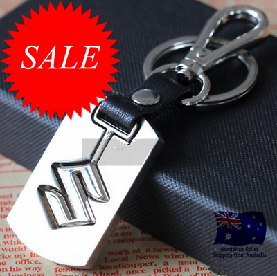 Nissan Chrome Embossed Stainless Steel Car Key Ring Keyring Chain Alloy Zinc AU