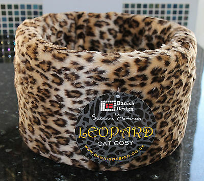 Danish Design Leopard Cat Cosy Bed Small 16""