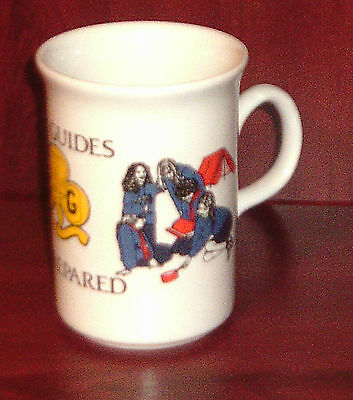 PAJ/004 ~ GIRL GUIDES BE PREPARED MUG white china