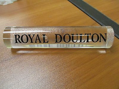 Royal Doulton Clear Plastic Lucite Store Display Sign Plaque