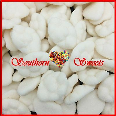WHITE CLOUDS WHITE LOLLIES GUMMY approx 250ct  1kg