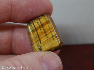Tigers Eye Polished Tumbled Gemstone 6.5 grams Money and luck stone!
