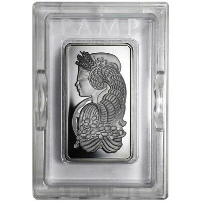 5 oz PAMP Suisse Lady Fortuna Platinum Bar .999+ Fine (In Assay)