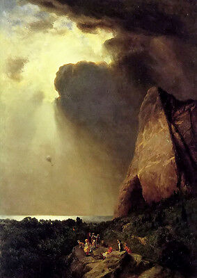 Oil painting william holbrook Beard - the lost balloon figures in mountains 36""