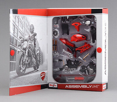Collection Diecast Model 1/12 Scale Ducati 696 Diy Assembly Motorcycle Kit