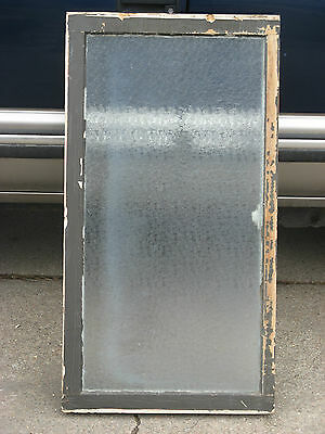 Antique Large Vintage Textured Glass Window, Nice!!!