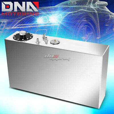 17 Gallon Top-Feed Performance Polish Aluminum Slim Fuel Cell Tank+Level Sender