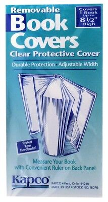 "Kapco Clear Book Covers (9.5"", 10"")"