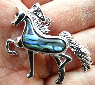 41*28MM Beautiful Abalone Shell carved the statue of The horse PENDANT S3