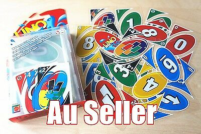Family Fun Party Game Transparent H2O Waterproof Plastic UNO Card the Table Game