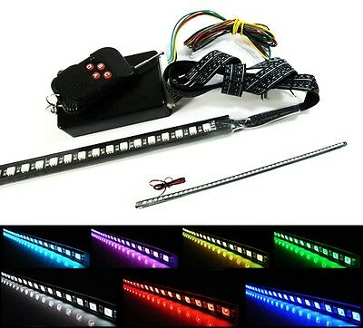 "7 Color 48 RGB LED Light Flash Strobe Scanner Knight Rider 24"" Bar Waterproof UK"