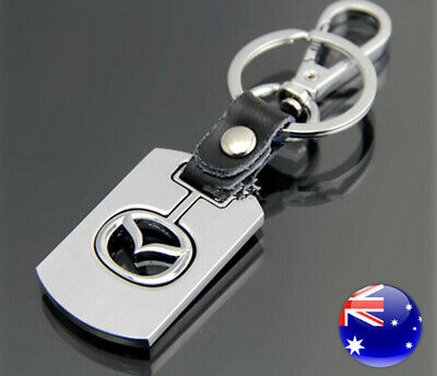 Carjoy Zinc Alloy Real Leather Car Auto Mazda Key Ring Gift Keyring Xmas Present
