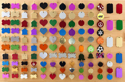 Pet ID Tags Custom Double Sided FREE ENGRAVED Dog Cat Name Charm Tags w/Ring