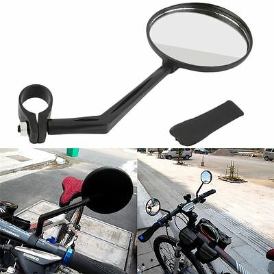 360 Degree Flexible Bicycle Bike Handlebar Rearview Vision Mirror Reflector @S