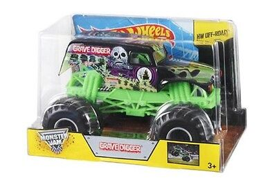 Hot Wheels Monster Jam Grave Digger Die Cast Truck Car 1:24 Scale Ages 3+ Toy